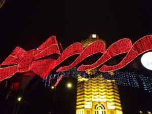 クリスマスのネオンサイン